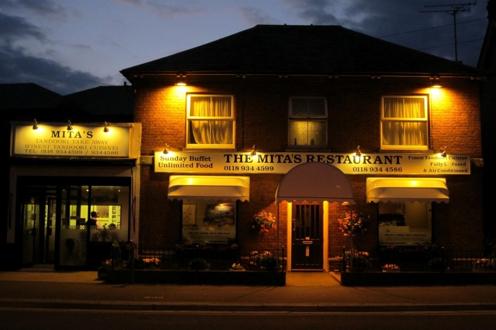 the mitas restaurant at night